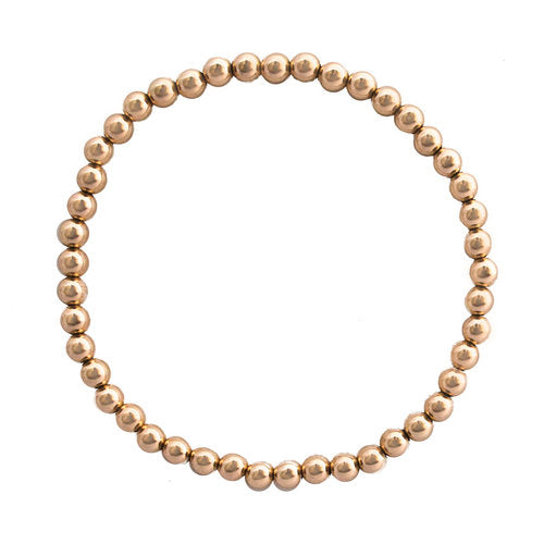 Isabella Ball Bracelet Rose Gold 4mm