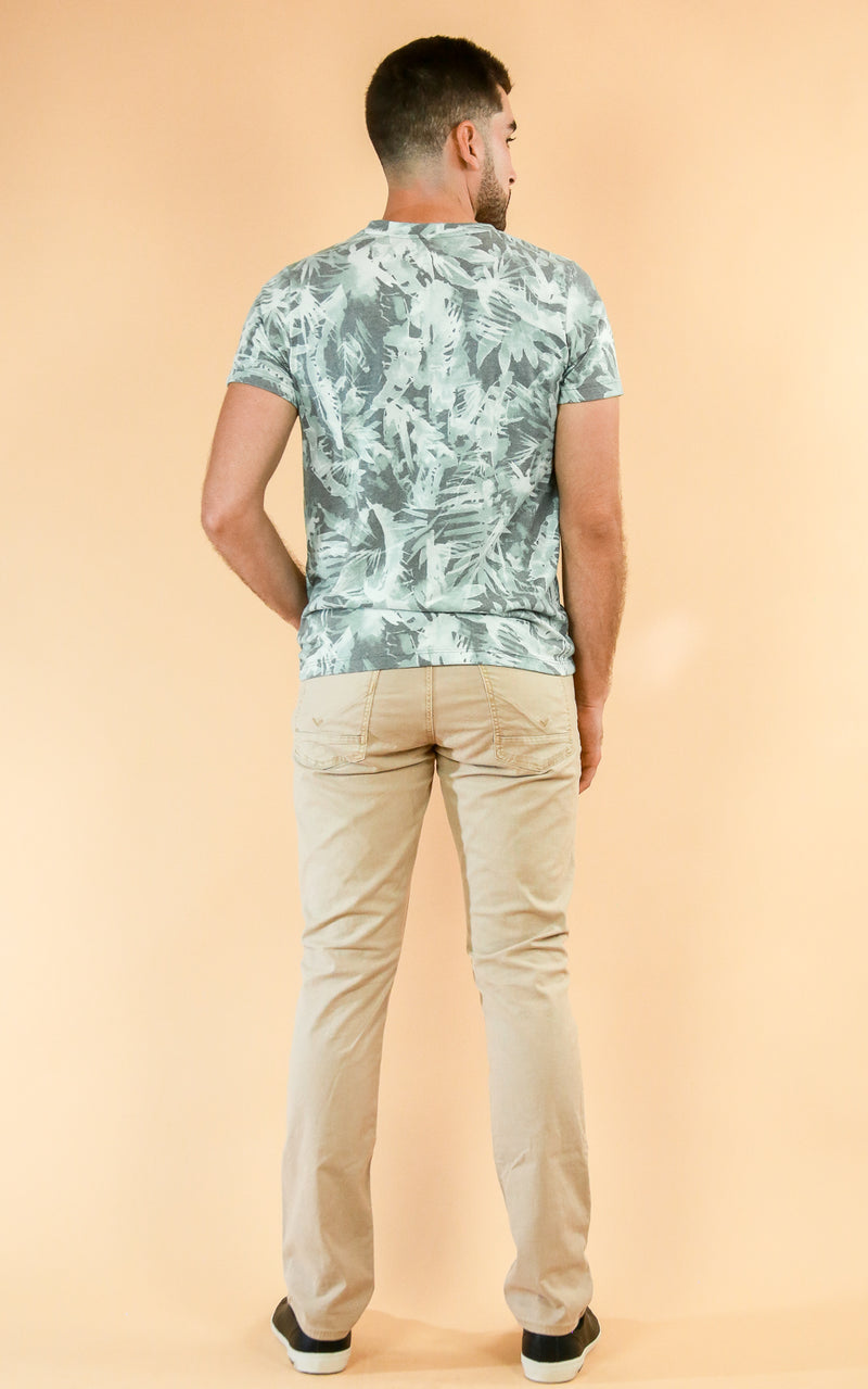 Tropical Camo V-Neck