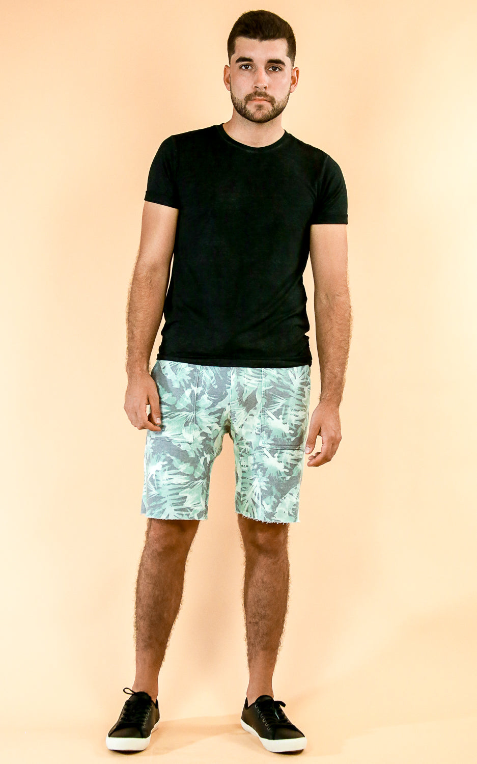 Sol Angeles shorts in green with palm tree print