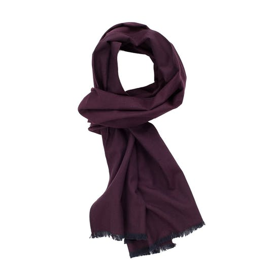Brushed Plum Scarf - Whiskey & Leather