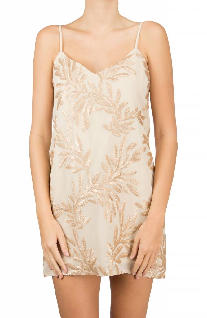 Vivienned Slip Dress Golden