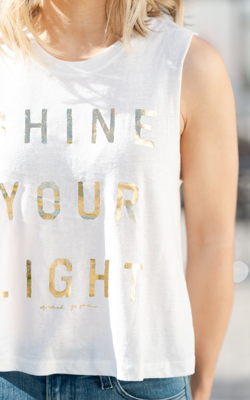 Light Crop Tank Stone
