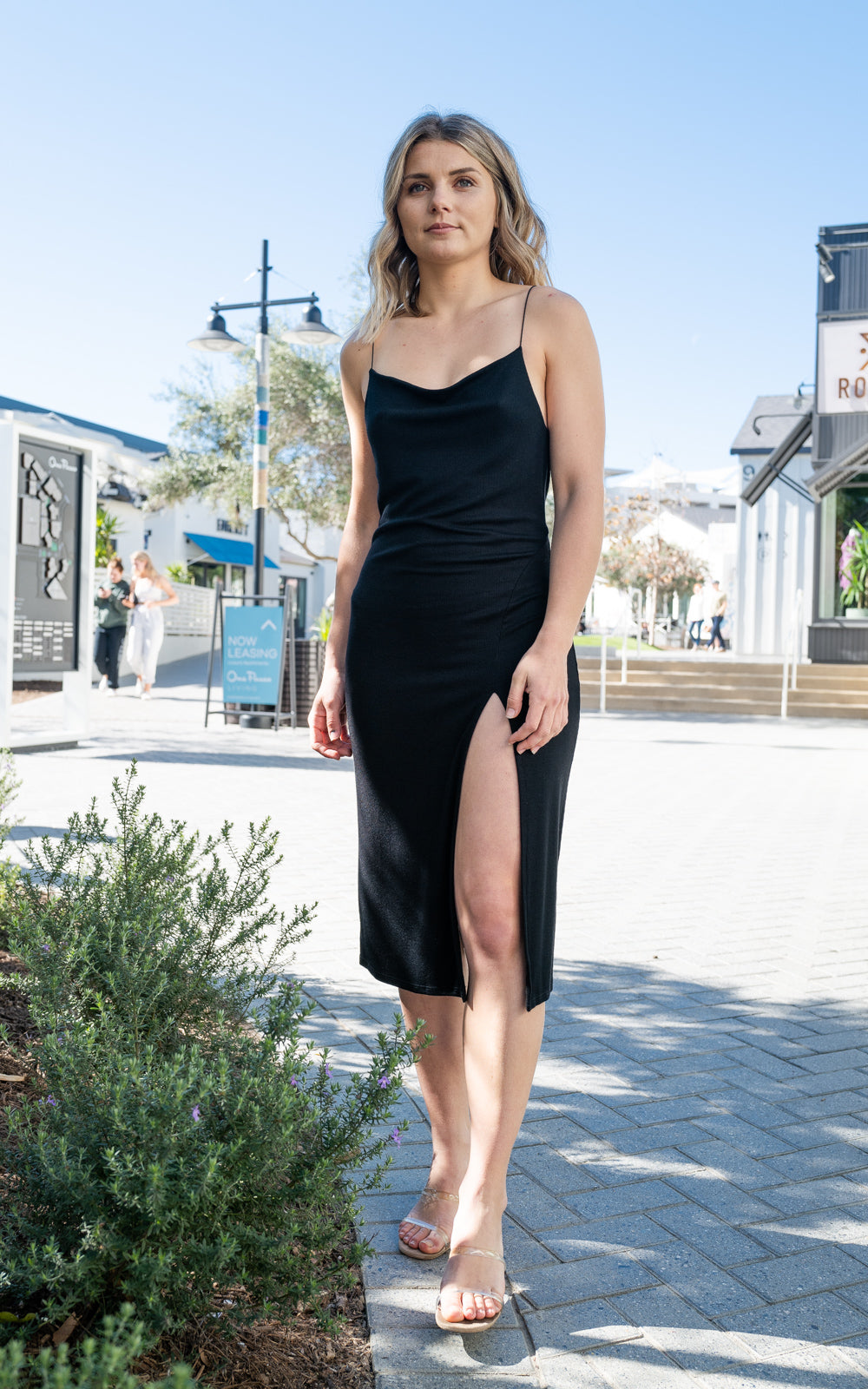 Strappy Slit Dress