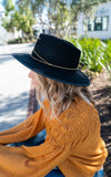 The anna hat in mustard by van palma Le anna hat by van palma in mustard gold plated jewelry france van palma hat wool water repellent black fedora by van palma
