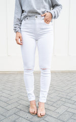 white denim by one teaspoon