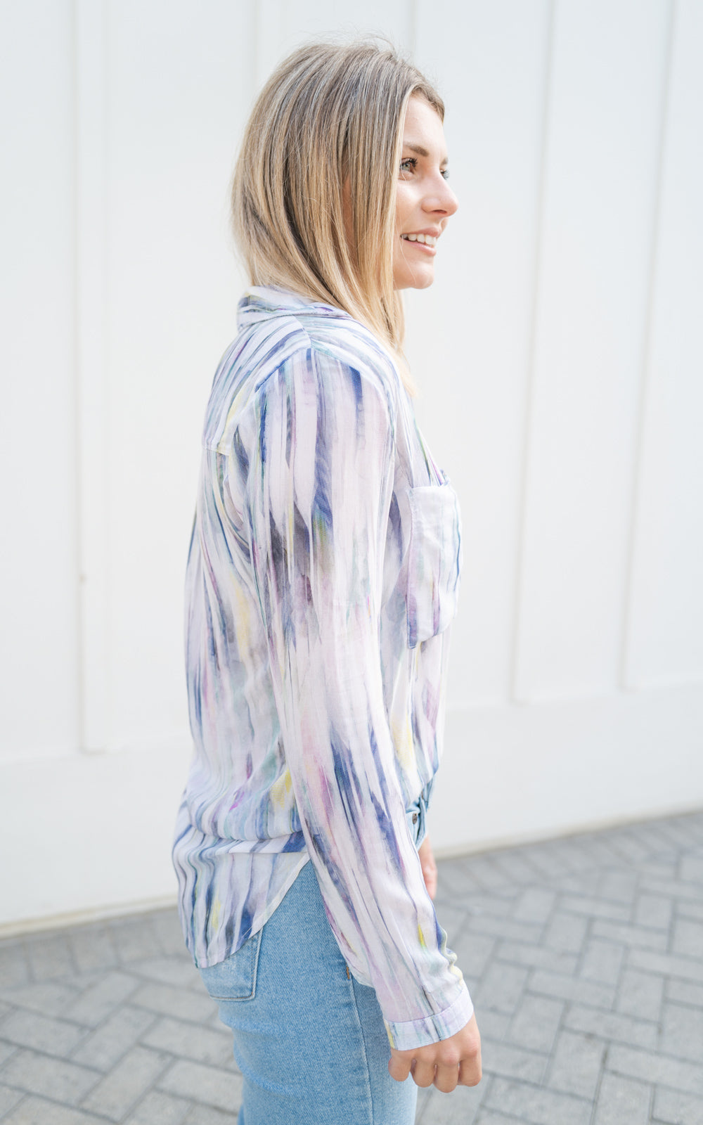 Feathered top by bella dahl