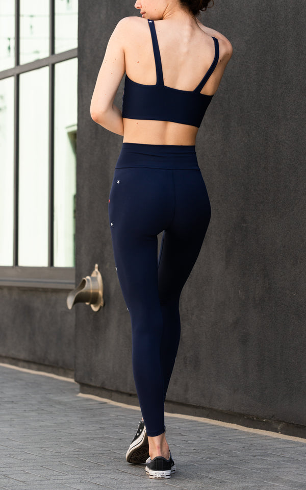 Cara Legging navy - Whiskey & Leather