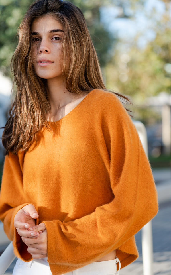 Ochre Cashmere Sweater