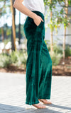 wide leg velvet pants by charlie holiday