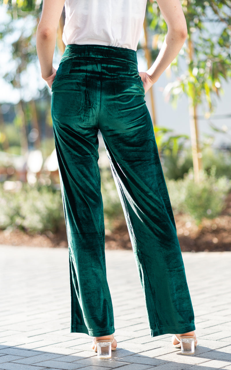 charlie holiday wide leg velvet pants