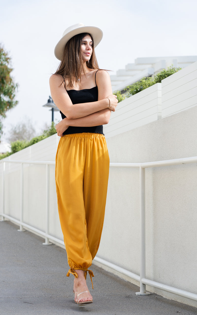mustard pants by sage the label