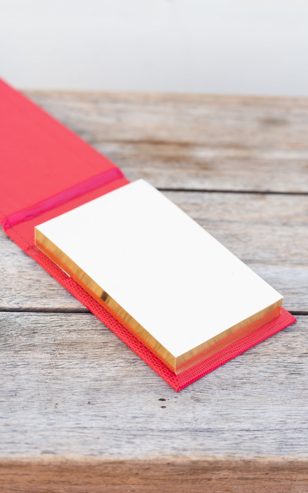 Sloane Stationary notepad in red with gold