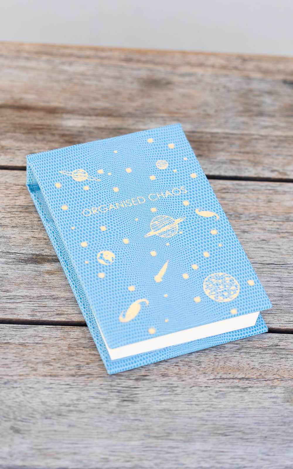 Sloane Stationary notepad in blue with gold