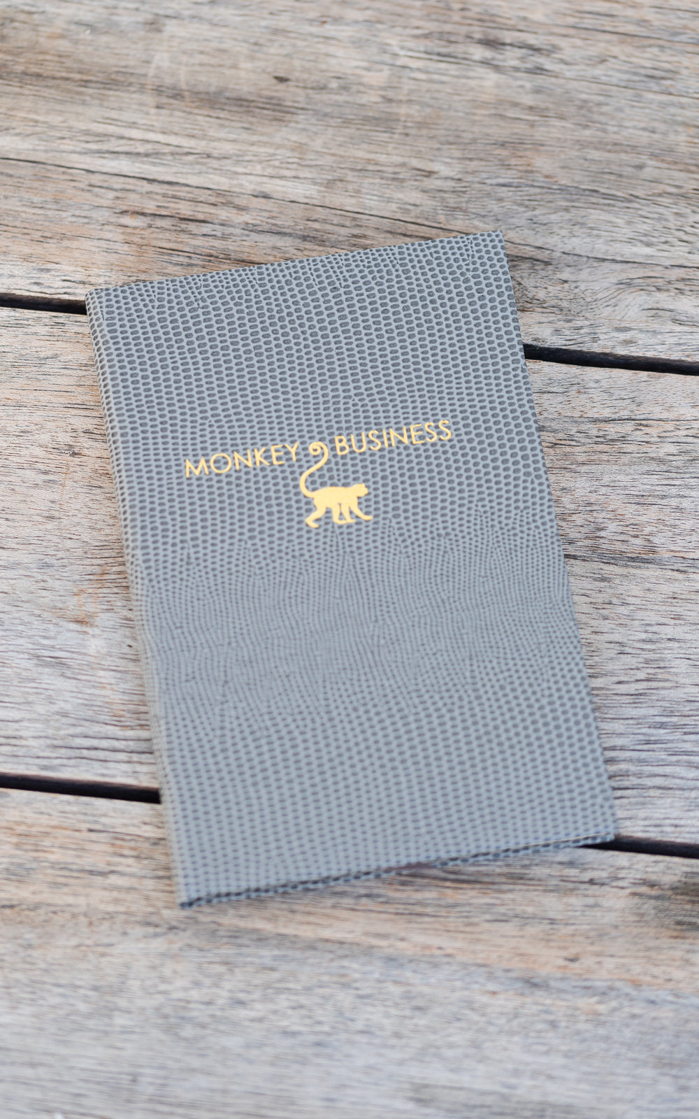Sloane Stationary notebook in grey with gold
