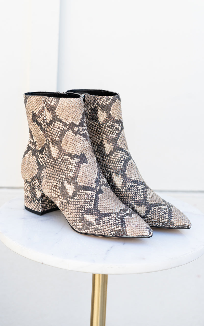 Bel Snake Print Leather