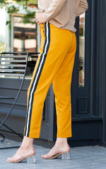 mustard tapered jogger by scotch and soda