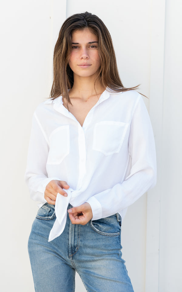 Two Pocket Tie Top