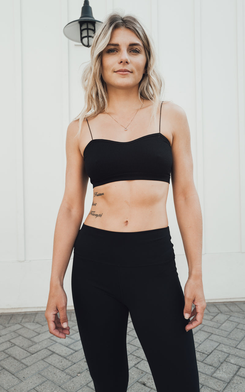 Square Bralette Black
