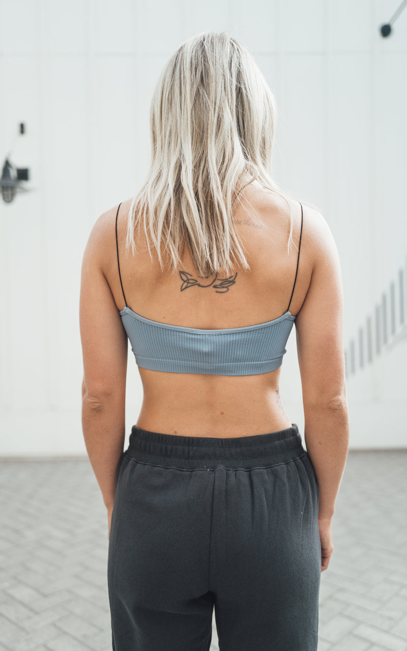 Bluestone Ribbed Bralette
