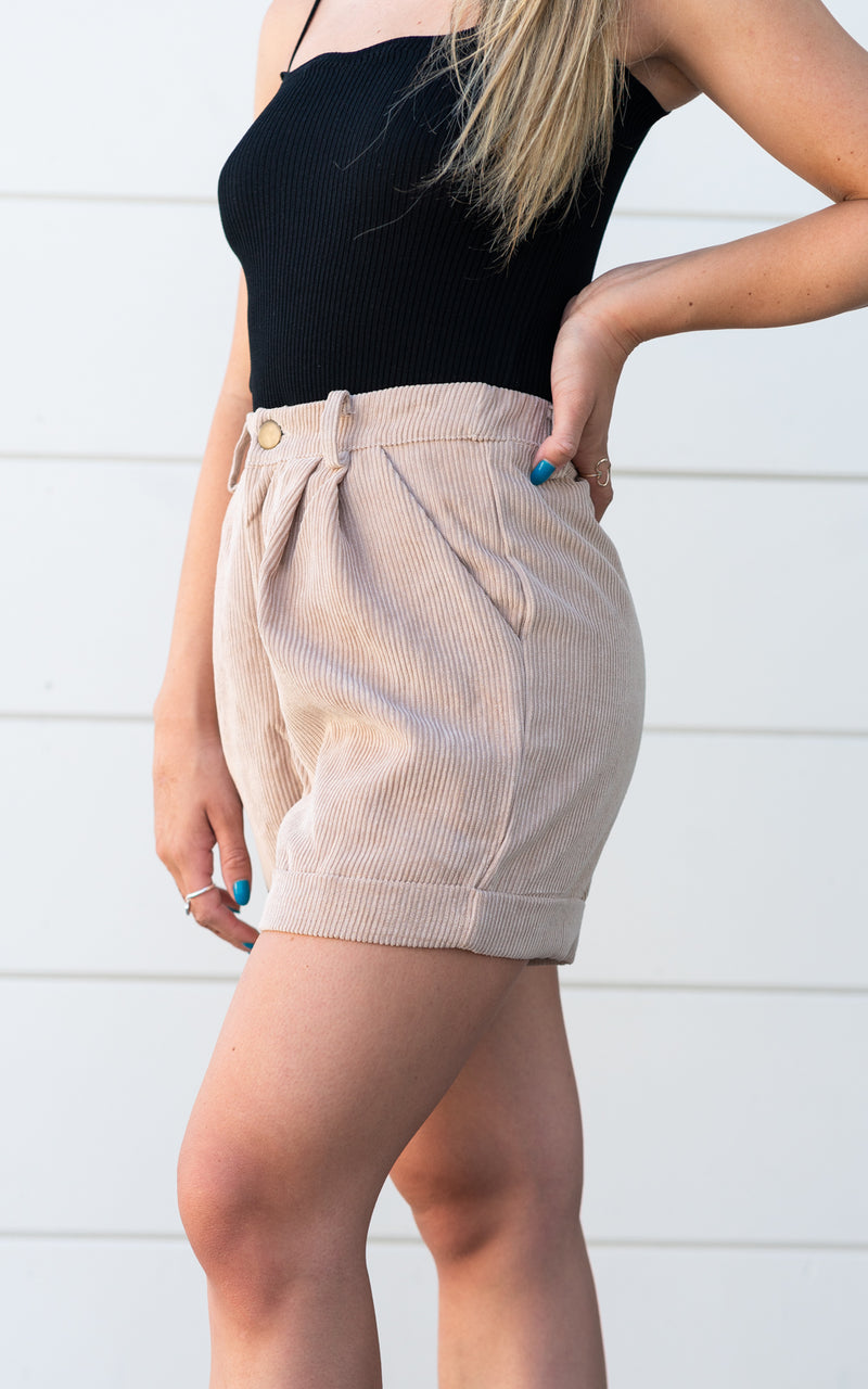 SAGE THE LABEL CUDOROY SHORTS