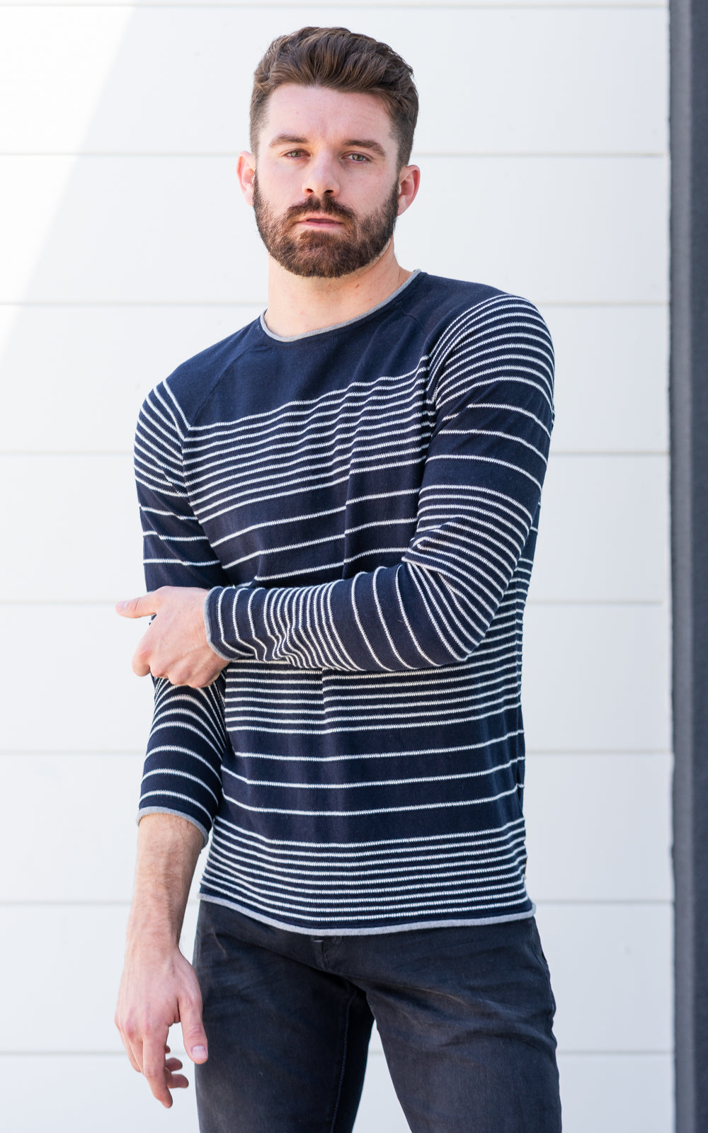 Striped Raglan Pullover