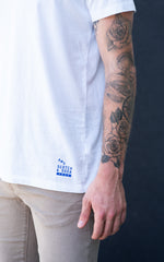 Scotch & Soda Tee in white with blue logo