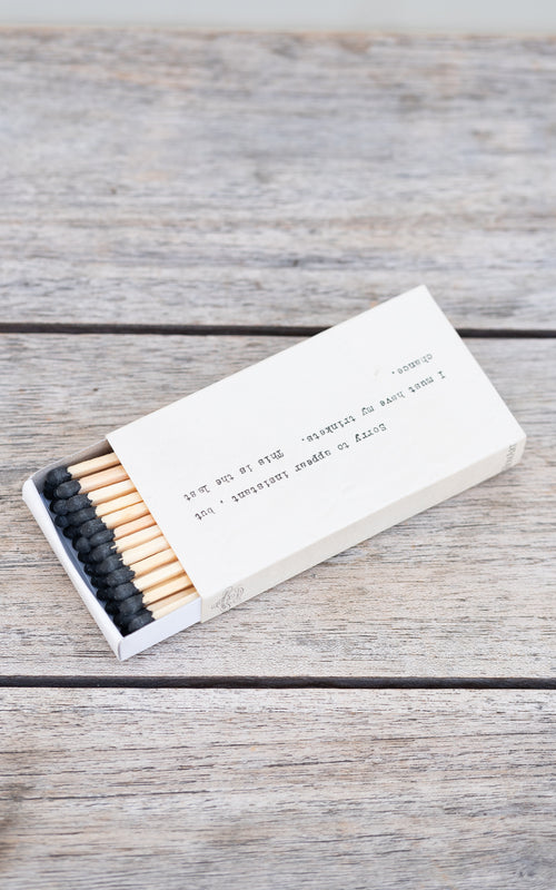 Homart matchbox with script