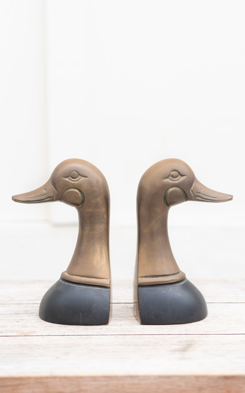 Mallard Bookends in brass