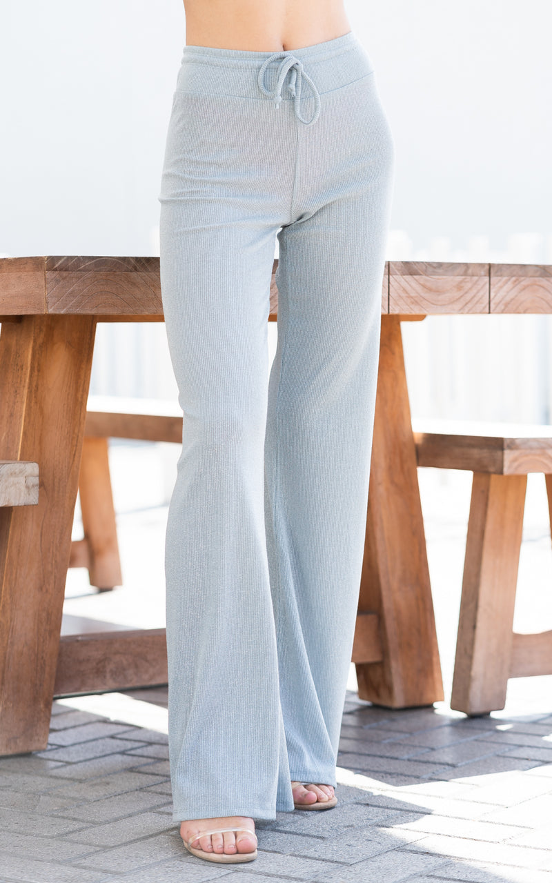 sparkly flare lounge pants by beach riot