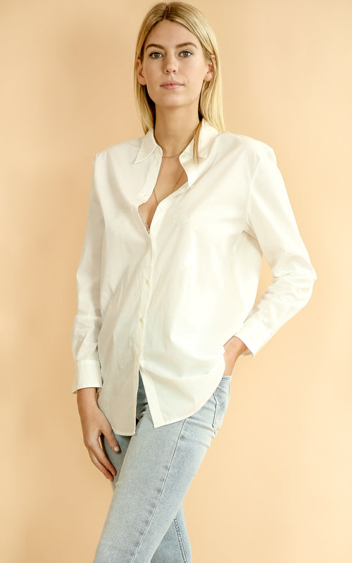 Boyfriend Fit Shirt - Whiskey & Leather