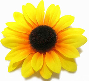 Sunflower Hair Flower Clip 3.5inch