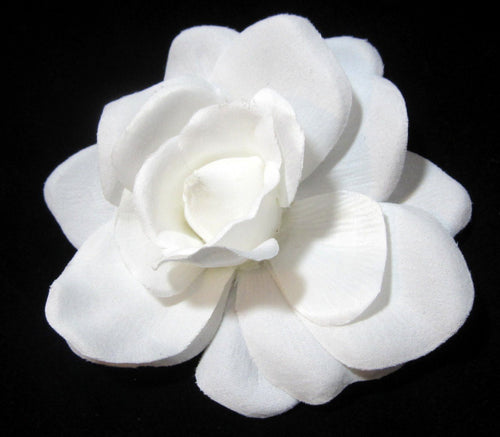Bright White Gardenia Hair Clip and Pin