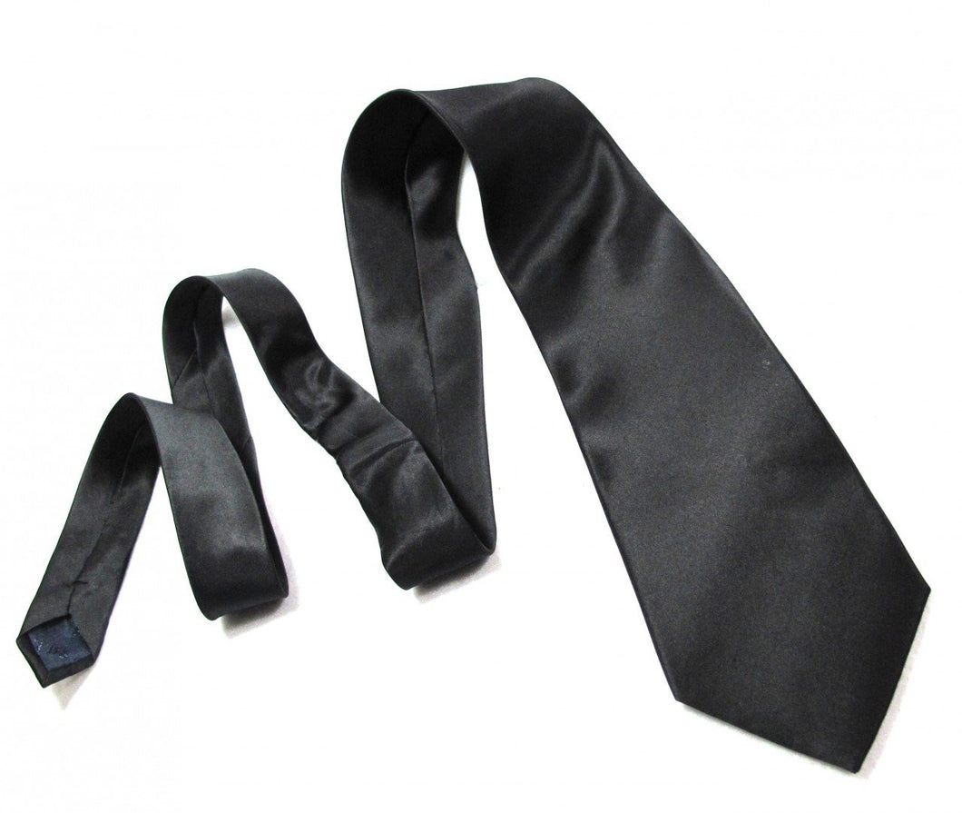 Mens Black Silk Necktie Tie