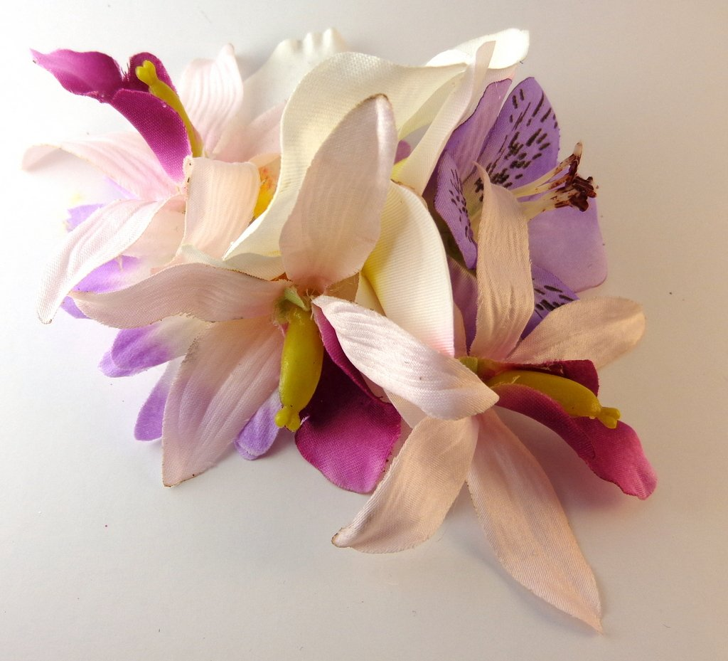 Light Pink and Purple Orchid Tropical Hair Flower Clip