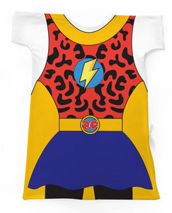 Supergirl! Super Hero Brave Gowns Hospital Gown for Children Size 2-4