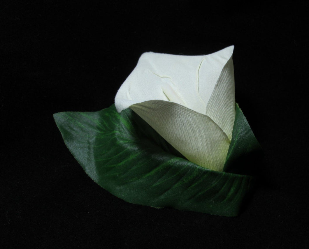 Calla Lily with Leaf Hair Clip