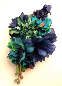 Extra Large Blue Hair Flower