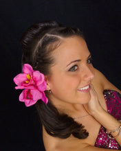 Load image into Gallery viewer, Pink Tropical Cymbidium Orchid Flower Hair Clip