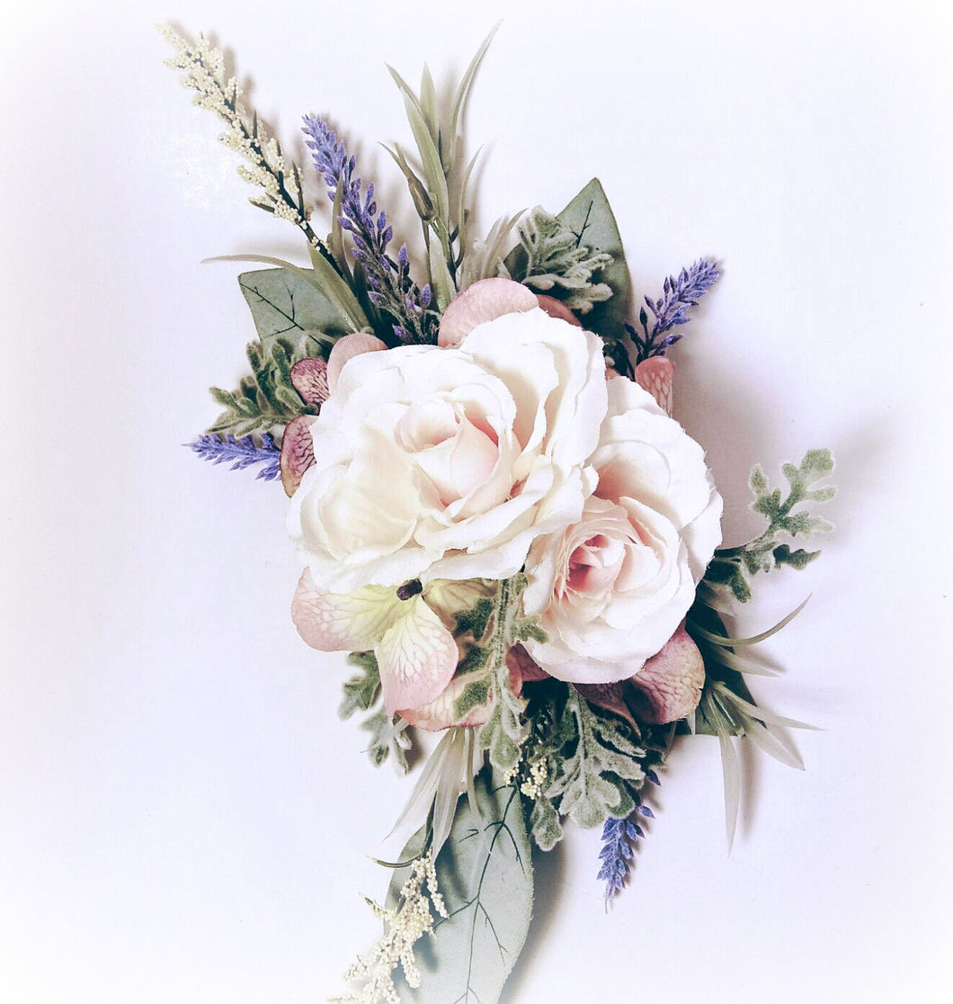 Pastel Pink and Lavender Hair Flower Accessory