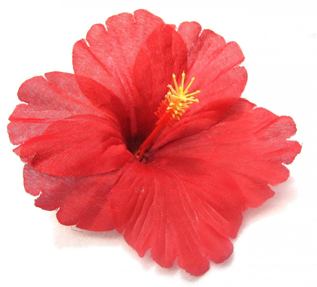 Classic Red Tropical Hibiscus Flower Hair Clip