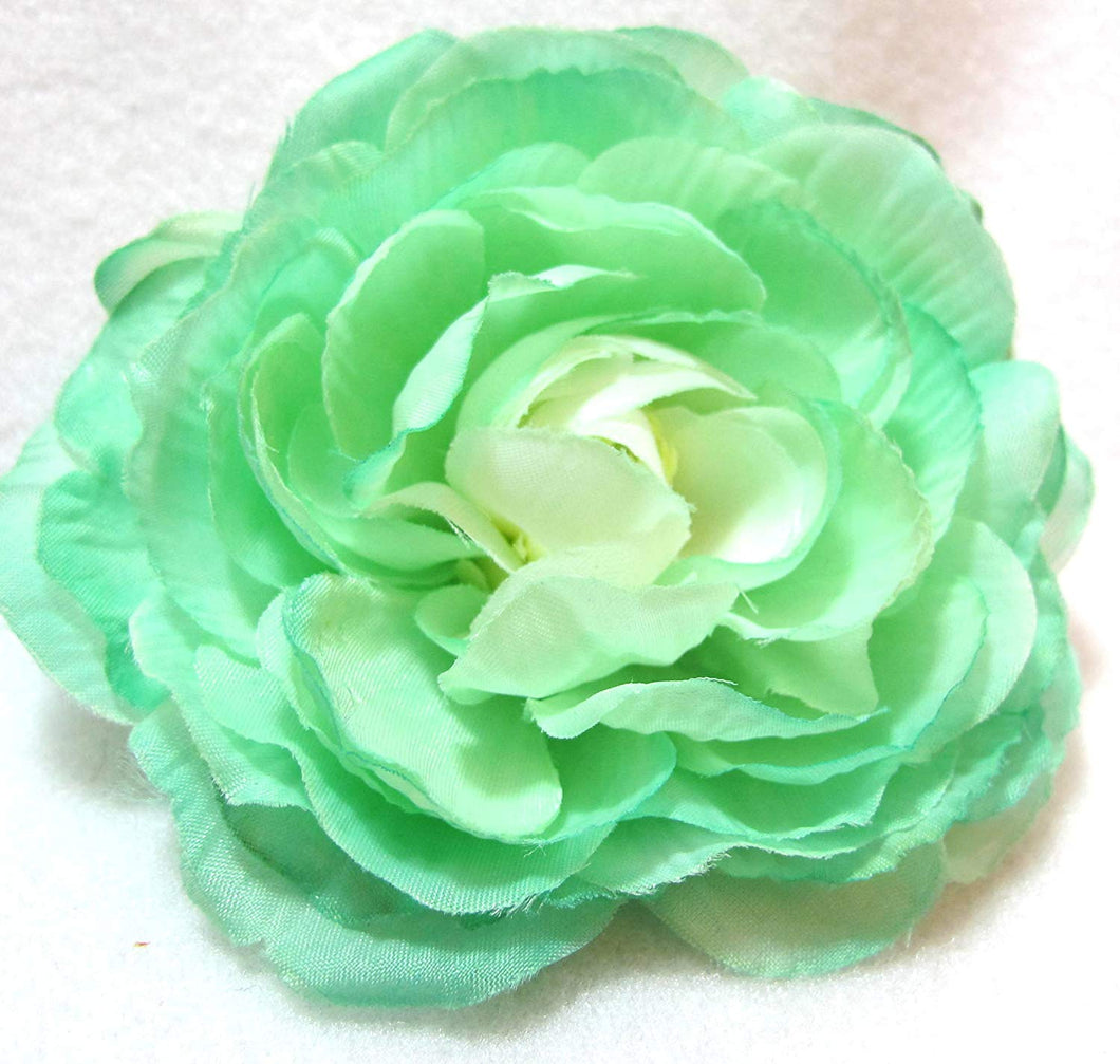Mint Green Hair Flower Clip