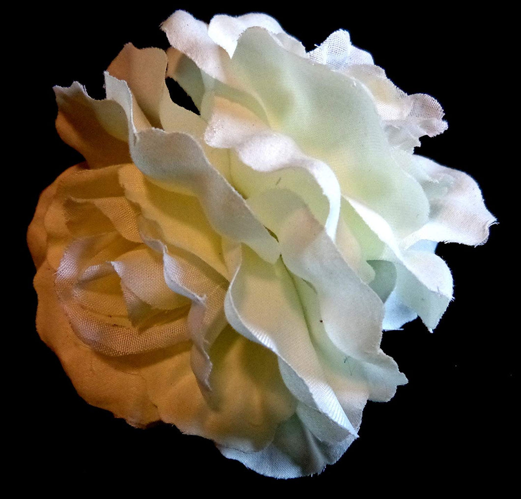Ivory Rose Hair Accessory Flower Clip