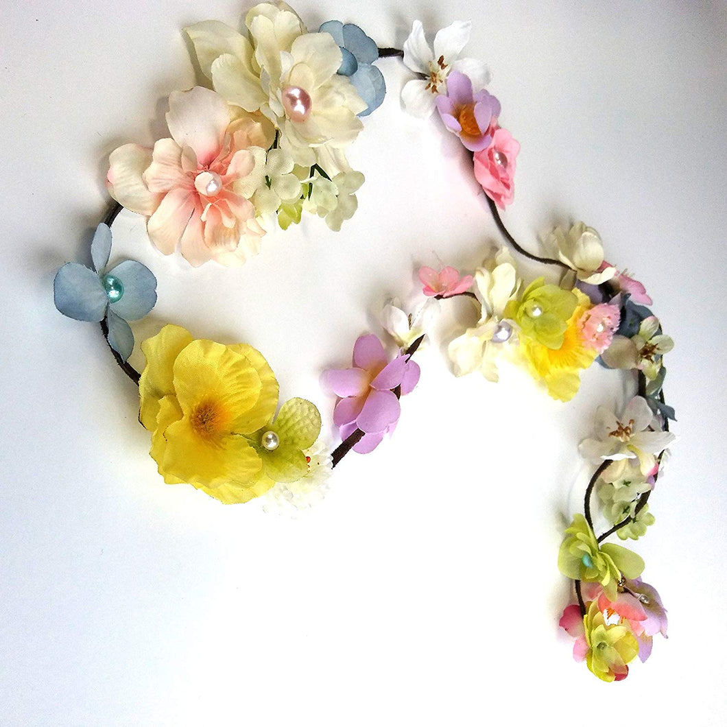 Pastel Long Hair Flower Vine