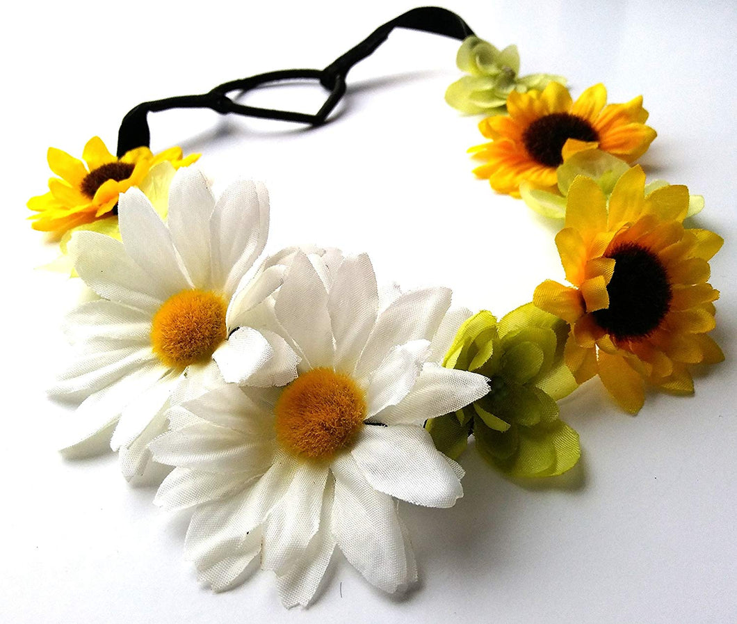 Daisy Sunflower Flower Headband
