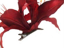 Load image into Gallery viewer, Large Red Tiger Lily Hair Flower Clip