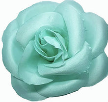Load image into Gallery viewer, Aqua Pool Blue Rose Hair Flower Clip and Pin