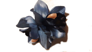 Blue Tropical Orchid Hair Flower Clip