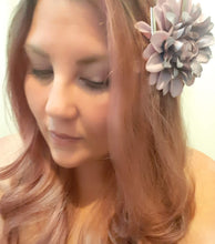 Load image into Gallery viewer, Pastel Purple Dahlia Hair Flower Clip and Pin