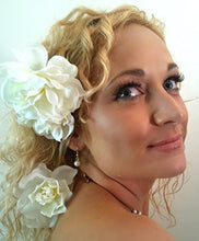 Load image into Gallery viewer, Billie Holiday Gardenia Hair Piece Set