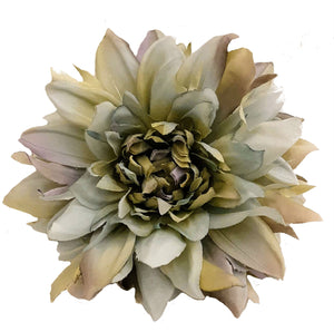 Gray Dahlia Hair Flower Clip and Brooch Pin